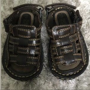 Faded Glory Shoes - Faded Glory Open Strap Sandal Toddler Size 5 Brown